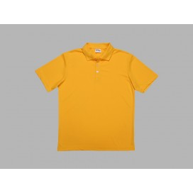 Polo Men's T-shirt(mesh interior,Yellow)(10/pack)