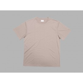 Men's Round Neck T-shirt(cotton feeling, Beidge)(10/pack)