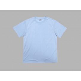 Men's Round Neck T-shirt(cotton feeling, LightBlue)(10/pack)