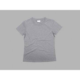 Women's Round Neck T-shirt(cotton feeling, Gray)(10/pack)