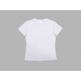Women's Round Neck T-shirt(cotton feeling, White)(10/pack)