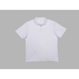 Polo Men's T-shirt(cotton feeling, White)(10/pack)