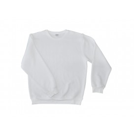Round Neck Long Sleeve Hoodie(unisex, White)(10/pack)