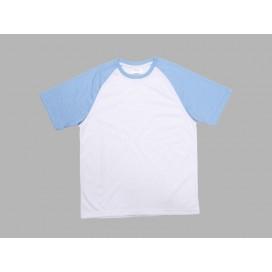 Polyester T-Shirt (Light Blue )(10/pack) MOQ:500