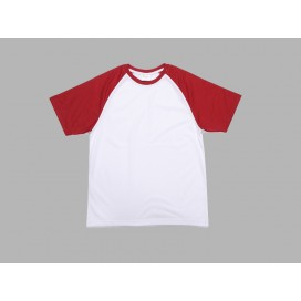 Polyester T-Shirt (Red )(10/pack)  MOQ:500