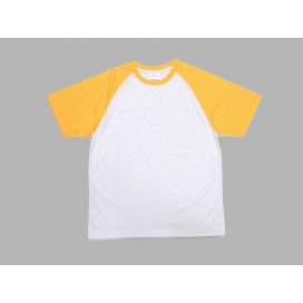 Polyester T-Shirt (Yellow)(10/pack)  MOQ:500