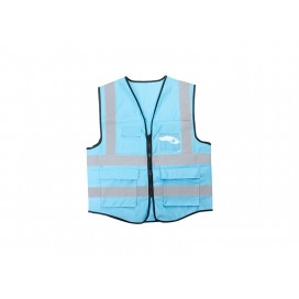 Swallowtail Reflective Vest (Light Blue) (10/pack)