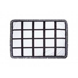 "Sublimation 24 Panel Plush Throw Blanket (100*150cm/39.4""x59"")"