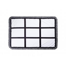 "Sublimation 9 Panel Plush Throw Blanket (100*150cm/39.4""x59"")"