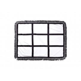 "Sublimation 9 Panel Plush Throw Blanket (76*101cm/30""x 40"")"