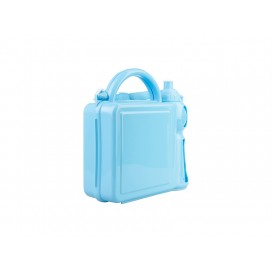 Handle Lunch Boxes with Sublimation Insert(Plastic, Blue) (10/pack)