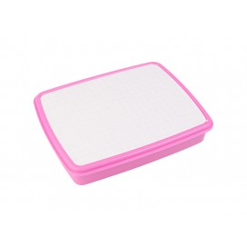Plastic Lunch Box w/ Grid(Purple Red) w/ Insert