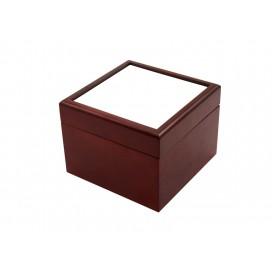 Jewelry Box w/o Ceramic tile (4*4, Brown)(10/pack)