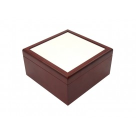 Jewelry Box w/o Ceramic tile (6*6, Brown)(10/pack)
