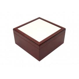 Jewelry Box w/o Ceramic tile (6*6, Brown)(10/pack)