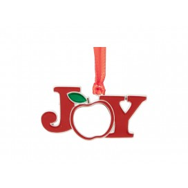 "3"" Sublimation Metal Christmas JOY Ornament (10/pack)"