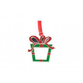 "3"" Sublimation Metal Christmas Box Ornament (10/pack)"