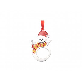 "3"" Sublimation Metal Christmas Snowman Ornament (10/pack)"