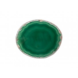 Engraving Agate Coaster (Dark Green) (10/pack)