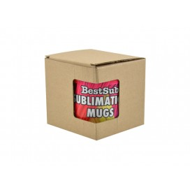 11oz Brown Cardboard Inner Box with Window(10/pack)