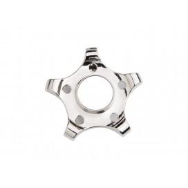 Fidget Spinner(Pentagonal Gear, Silver)(10/pack)