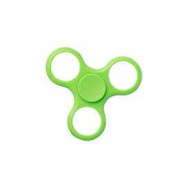 Plastic Fidget Spinner w/o insert (Whirlwind, Green) (10/pack)