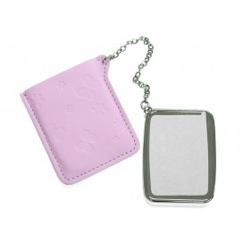 Rectangular Hand Mirror with Leader Case(10/pack)