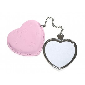 Heart Hand Mirror with Leader Case(10/pack)