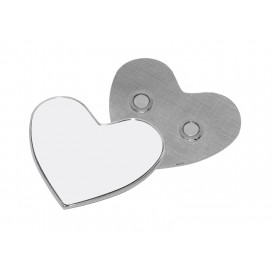 Fridge Magnet (Metal, Heart)(10/pack)