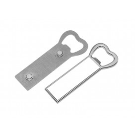 Bottle Opener Fridge Magnet (Metal, Rectangular )(10/pack)