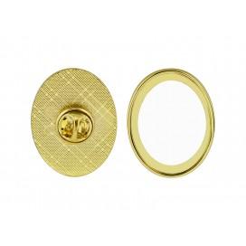 Metal Badge(Oval) (10/pack)