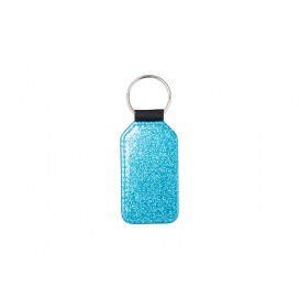 Glitter PU Leather Key Chain (Barrel, Blue)(10/pack)