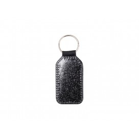 Glitter PU Leather Key Chain (Barrel, Black)(10/pack)
