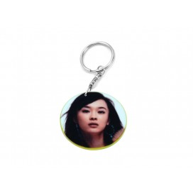 39mm Round Plastic Keychain(Color Edge)(10/pack) (MOQ: 10pack)