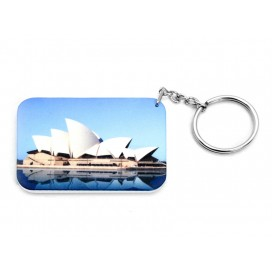 Rectangular Plastic Keychain 48*68mm(10/pack)