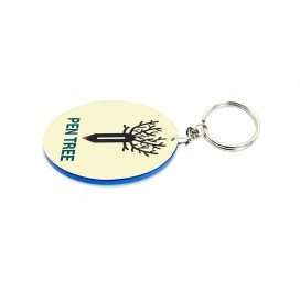 Oval Plastic Keychain 48*68mm(Color Edge)(10/pack)   (MOQ: 5pack)