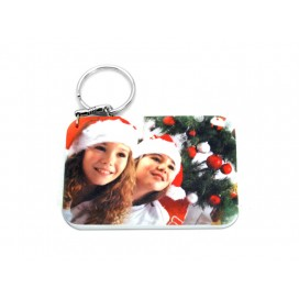 Rectangular Plastic Keychain 57*82mm(10/pack)  (MOQ: 5pack)