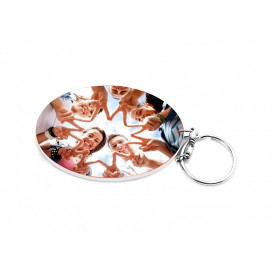 Oval Plastic Keychain 57*82mm(10/pack)  (MOQ: 10pack)