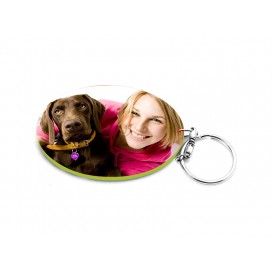 Oval Plastic Keychain 57*82mm(Color Edge)(10/pack)  (MOQ: 10pack)