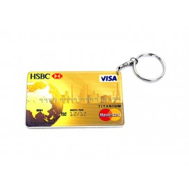 Credit Card Plastic Keychain 53*85mm(10/pack)  (MOQ: 10pack)