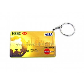 Credit Card Plastic Keychain 53*85mm(Color Edge)(10/pack)  (MOQ: 10pack)