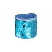 Sequin Bracelet (Light Blue W/ White) (10/pack)