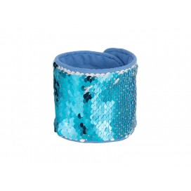 Sequin Bracelet (Light Blue W/ White) (10/pack)