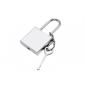 Sublimation Metal Lock ( Square)(10/pack)