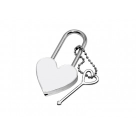 Sublimation Metal Lock (Heart)(10/pack)