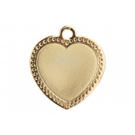 Gold Necklace(Heart)(10/pack)
