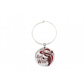 28mm Wine Glass Charm(Round)(10/pack)