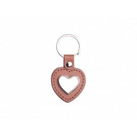PU Key Chain(Heart, Brown) (10/pack)