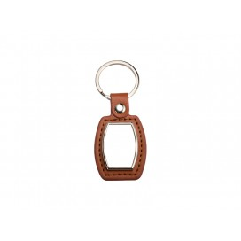 PU Key Chain(Barrel, Brown) (10/pack)