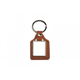 PU Key Chain(Rec, Brown) (10/pack)
